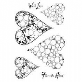 Woodware - Bubble Hearts - Clear Magic Stamp Set - JGCL549